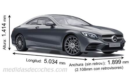Mercedes-Benz Clase S Coupé largo x ancho x alto