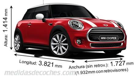 medidas y dimensiones de coches marca mini
