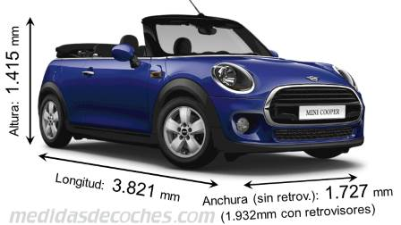 MINI Cabrio largo x ancho x alto