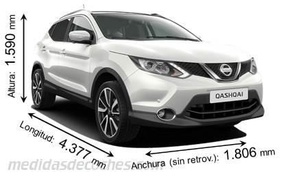 Medidas y dimensiones de coches marca Nissan
