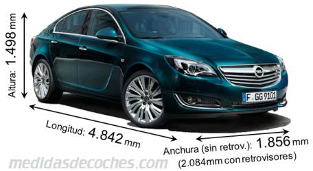 Medidas y dimensiones de coches marca opel for Medidas de un carro arquitectura