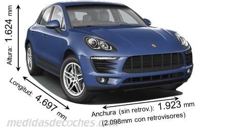 Medidas Y Dimensiones De Coches Marca Porsche