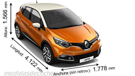 Renault Captur cotas en mm