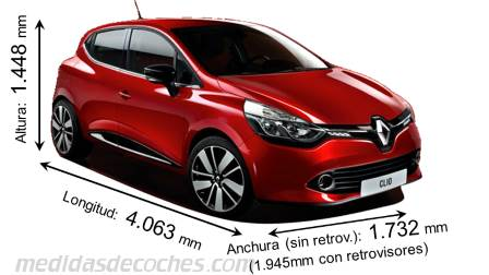medidas renault clio 2013 maletero e interior. Black Bedroom Furniture Sets. Home Design Ideas