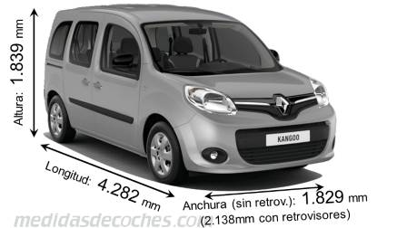Medidas renault kangoo 2013 maletero e interior - Medidas interiores furgonetas ...