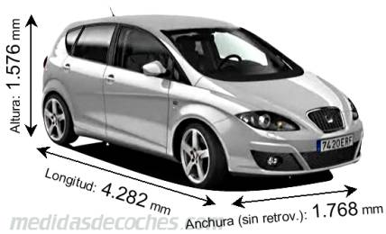 Seat Altea cotas en mm