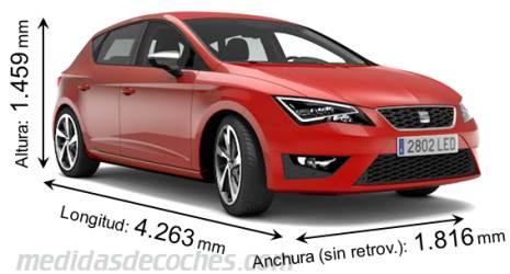 medidas y dimensiones de coches marca seat