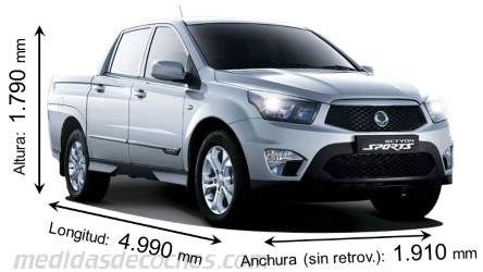 SsangYong Actyon Sports largo x ancho x alto