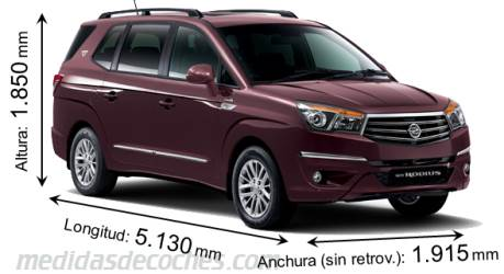 SsangYong Rodius dimensiones