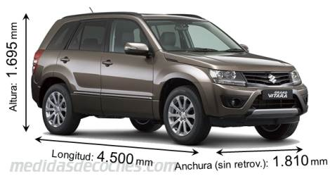 Suzuki Grand Vitara largo x ancho x alto