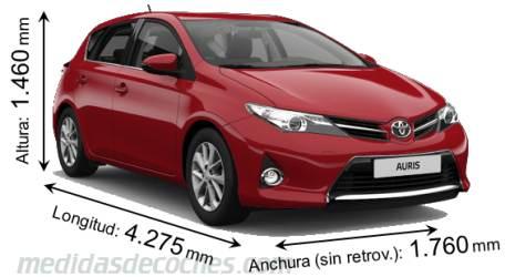 Medidas Y Dimensiones De Coches Marca Toyota