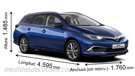 Toyota Auris Touring Sports largo x ancho x alto