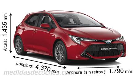 Medidas Toyota Corolla 2019 Maletero E Interior
