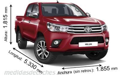 Medidas Toyota Hilux 2016 Maletero E Interior