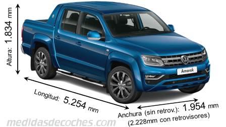 Medidas Toyota Hilux 2016, maletero e interior
