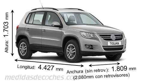 Medidas Y Dimensiones De Coches Marca Volkswagen