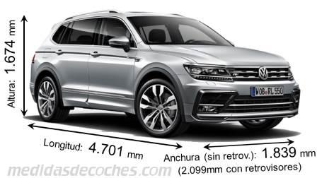 Volkswagen Tiguan 2018 >> Comparativa SUV grandes y todoterrenos con medidas y maletero