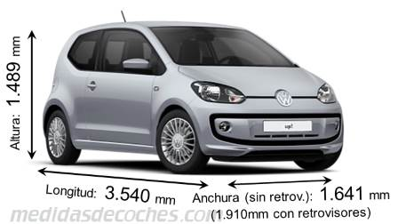 Volkswagen up! cotas en mm