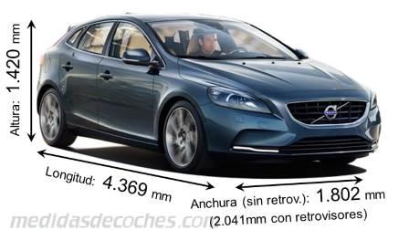Medidas Volvo V40 2016 Maletero E Interior