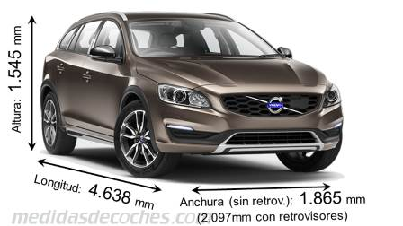 Volvo V60 Cross Country largo x ancho x alto