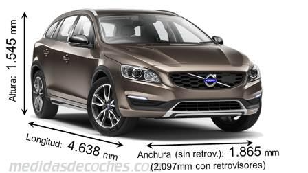 Medidas Volvo V60 Cross Country 2015 Maletero E Interior